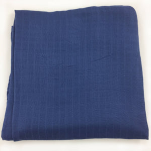 "Blue Single Layer Swaddle 50""x50"" made from Bamboo, muslin, nursing cover, large size light weight blanket"