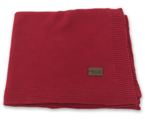 Knit Baby Blanket - Red
