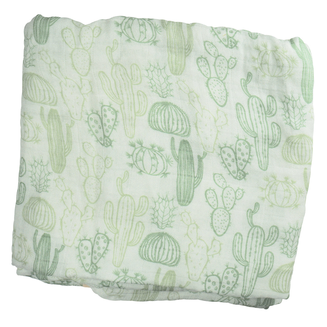 Cactus Swaddle 1 pack - soft muslin, bamboo/cotton blend