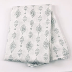 Triangles Swaddle 1 pack - soft muslin, bamboo/cotton blend. Great for swaddling, nursing cover, travel blanket and more