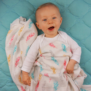 Feathers Muslin Swaddle