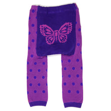 Load image into Gallery viewer, Purple Butterflies Baby Leggings (available in 3 sizes)