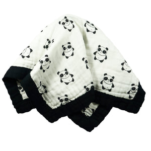 "Panda - Medium 3-layer Snuggle Blanket (23""X23"")"