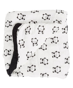 "Pandas - Small 3-layer Snuggle Blanket (15""X15"")"