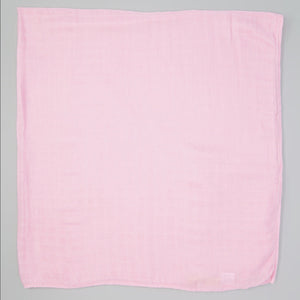 Solid Pink Swaddle 1 pack - soft muslin, bamboo/cotton blend