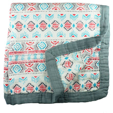 "Load image into Gallery viewer, Southwestern Triple Layer Bamboo Swaddling Blankets (47""x47"")"