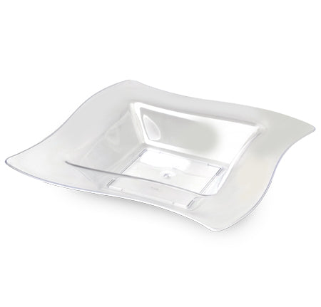 12 oz Square Wavetrends Bowls Clear
