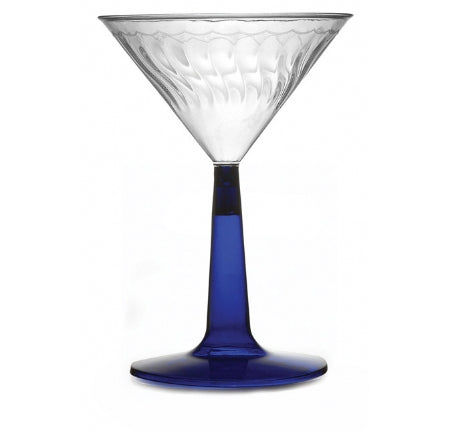 6 oz. Martini Glass Blue