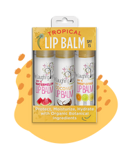 Load image into Gallery viewer, Tropical Lip Balm Trio with SPF-15