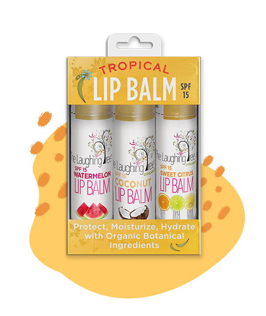 Tropical Lip Balm Trio with SPF-15