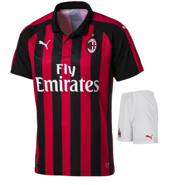 Original AC Milan Premium Home Jersey and Shorts [Optional] 2018-19