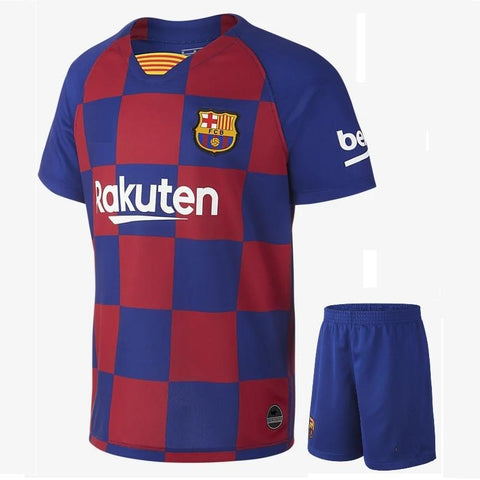 Kids/Youth Original Barca Premium Home Jersey & Shorts 2019/20