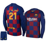 Original De Jong Barcelona Premium Home Full Sleeve Jersey & Shorts [Optional] 2019/20