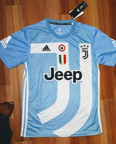 Rare Juventus 4th Digital Kit Blue EA Sports Edition [Superior Quality]