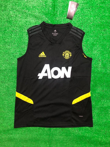 Manchester United Sleeveless Pre-Match Jersey Black 2020/21 [Superior Quality]