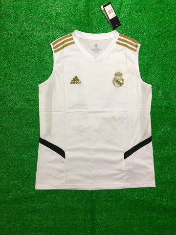 Real Madrid Sleeveless Pre-Match Jersey White 2020/21 [Superior Quality]