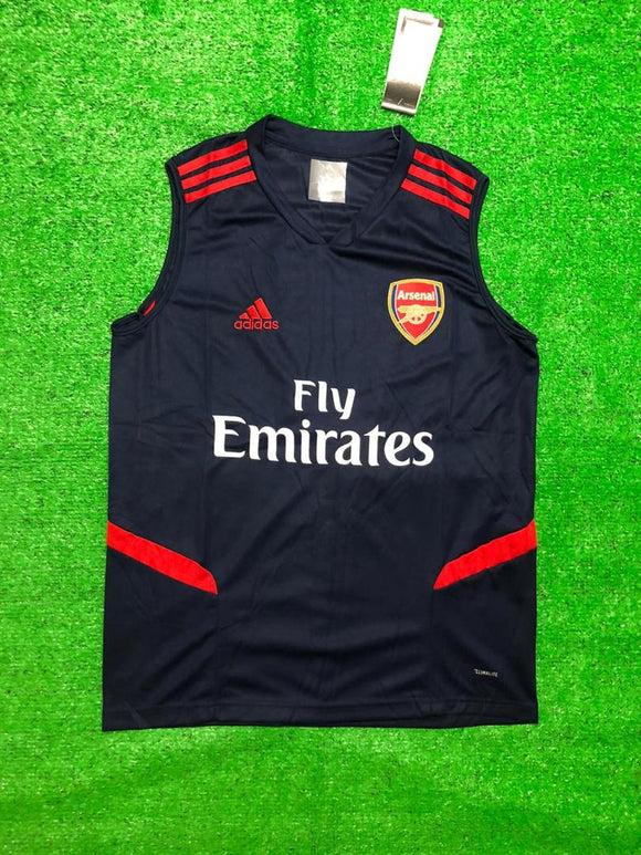 Arsenal Sleeveless Pre-Match Jersey Blue 2020/21 [Superior Quality]