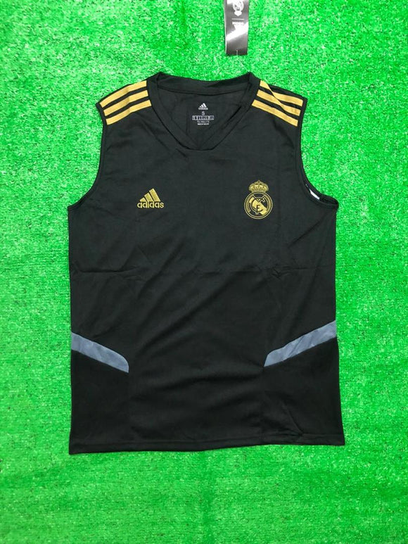 Real Madrid Sleeveless Pre-Match Jersey Black 2020/21 [Superior Quality]