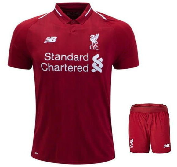 Original Liverpool Home Jersey Superior Quality and Shorts [Optional] 2018-19