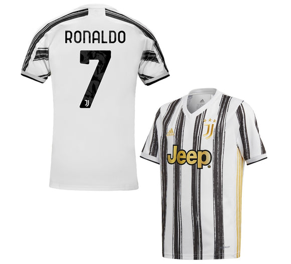 Juventus Ronaldo Home Jersey with Italia logos 2020/21 [Superior Quality]