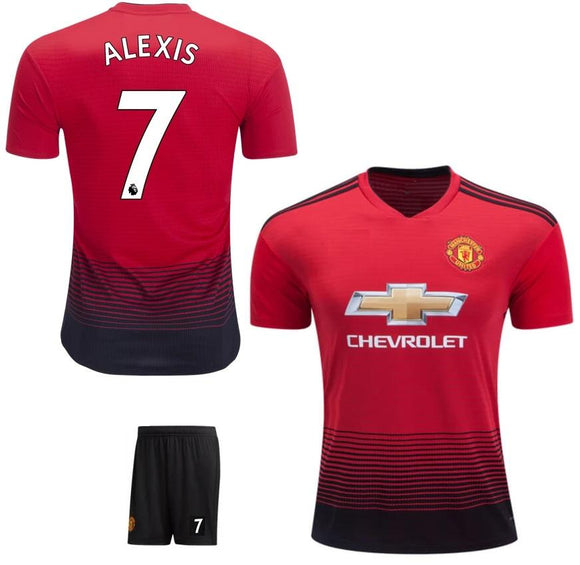 Original Alexis Manchester United Premium Home Jersey & Shorts [Optional] 2018-19