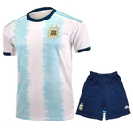 Kids/Youth Original Argentina International Premium Home Jersey & Shorts 2019
