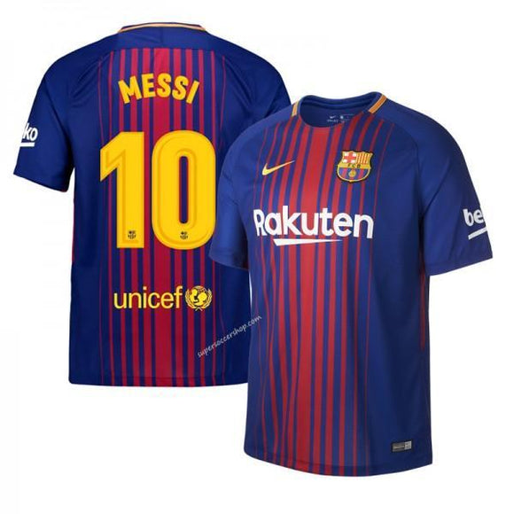 Original Messi Barcelona Premium Home Jersey and Shorts [Optional] 17-18