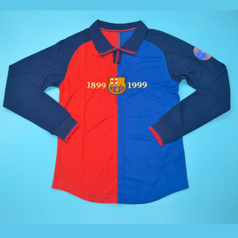 Retro Barcelona 100 years Full Sleeve Jersey 1899-1999 [Superior Quality]