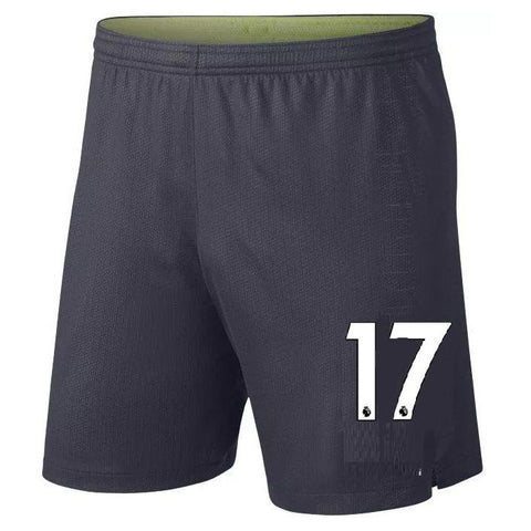 Original De Bruyne Manchester City Premium Home Blue Shorts 2018-19