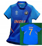 Original MS DHONI India Cricket Jersey World Cup 2019 [World Cup Logo]