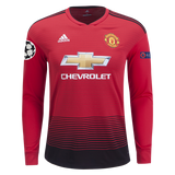 Original Manchester United Full Sleeves Champions League Edition Home Jersey 2018-19 [Superior Quality]