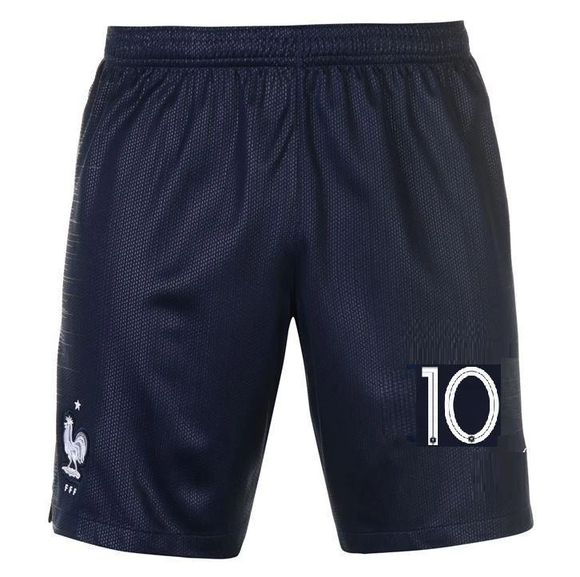 Original Mbappe World Cup 2018 Champions France Premium Home Shorts
