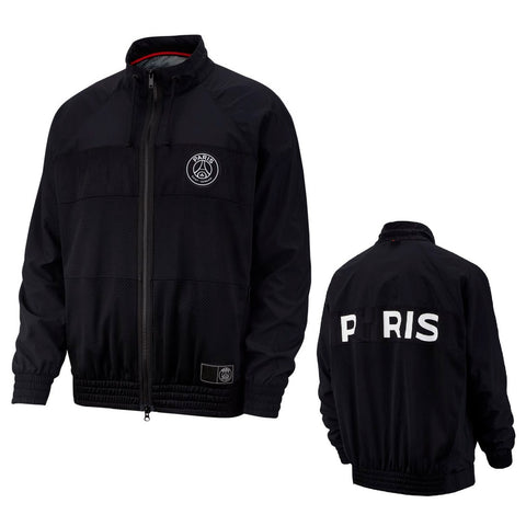 PSG Jordan Black Rare Anthem Jacket