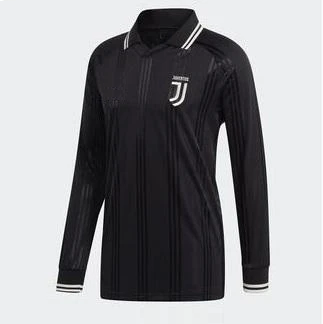 Original Juventus Retro Full Sleeve Black Polo Jersey [Superior Quality]