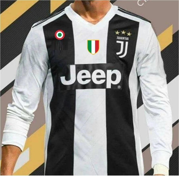 Original Juventus Home Full Sleeve Premium Jersey 2018-19 (With Italia & SerieA logos)