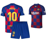 Kids/Youth Original Messi Barcelona Premium Home Jersey & Shorts 2019/20