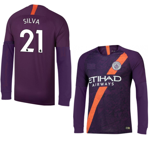 Original Silva Manchester City Premium Full Sleeves 3rd Jersey 2018-19