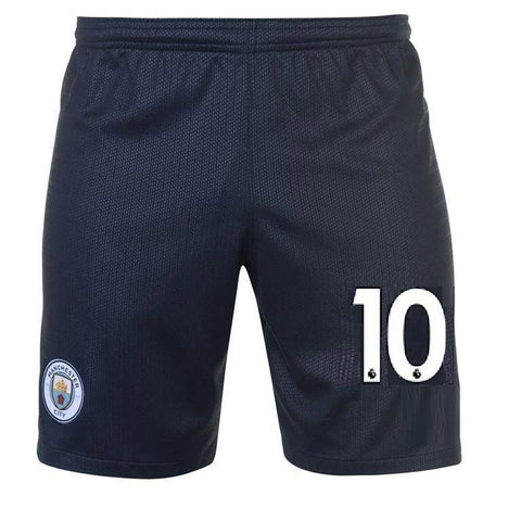 Original Kun Aguero Manchester City Premium Away Black Shorts 2018-19
