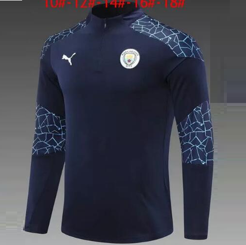 Manchester City Home Training Track Upper Blue 2020/21