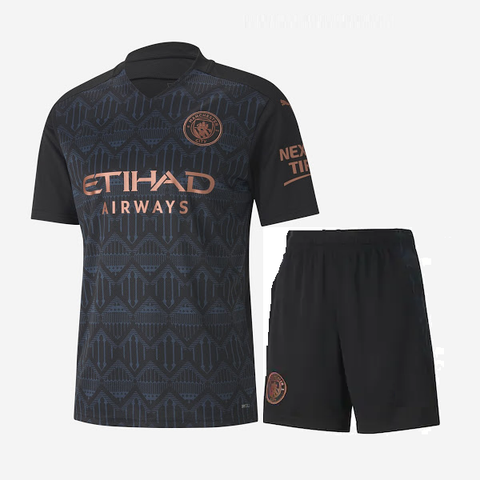 Kids/Youth Manchester City Away Premium Jersey & Shorts 2020/21
