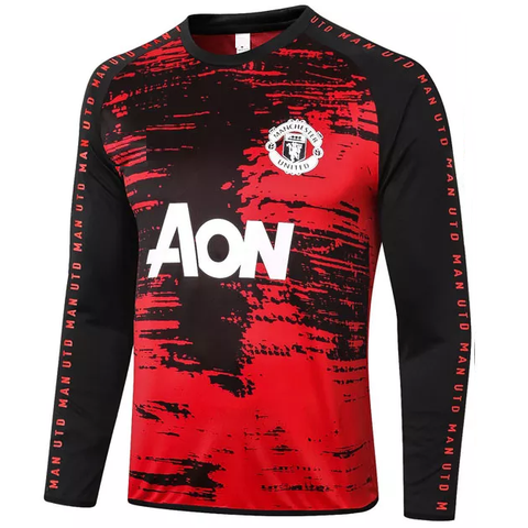 Manchester United Home Track Upper Black/Red 2020/21