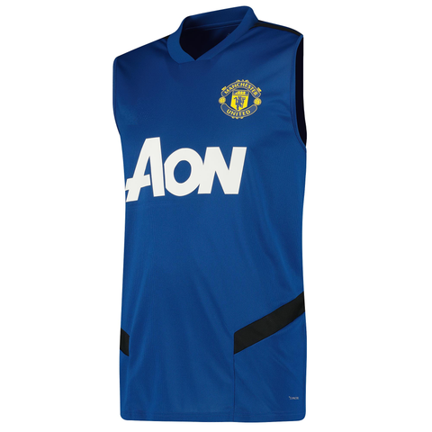 Manchester United Sleeveless Pre-Match Jersey Blue 2020/21 [Superior Quality]