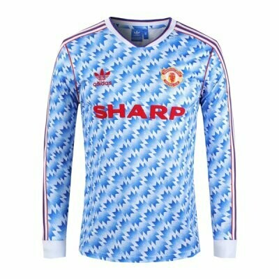 Retro Manchester Away Jersey Full Sleeves 1990-92 [Superior Quality]