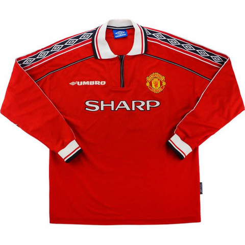 Retro Manchester Home Full Sleeve Jersey 1998-00 [Superior Quality]