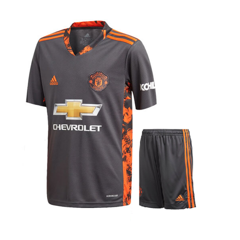 Kids/Youth Manchester United Keeper Premium Jersey & Shorts 2020/21