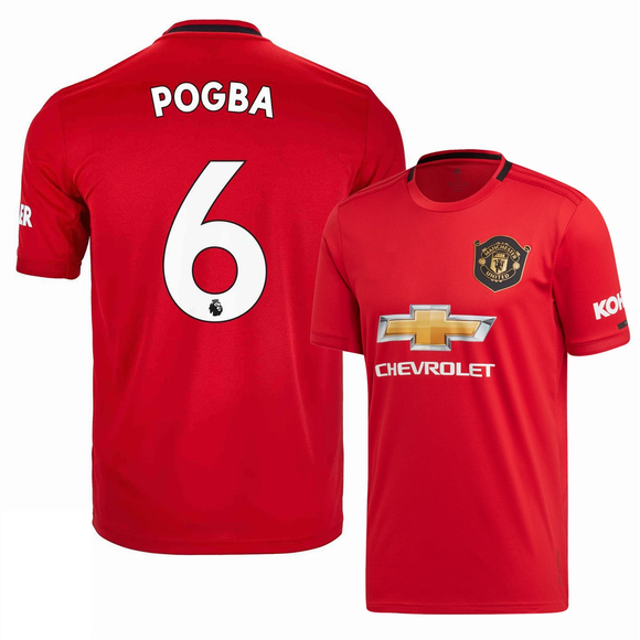 Original Pogba Manchester United Premium Home Jersey & Shorts [Optional] 2019/20