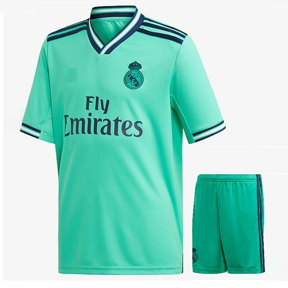 Kids/Youth Original Real Madrid 3rd Premium Home Jersey & Shorts 2019/20