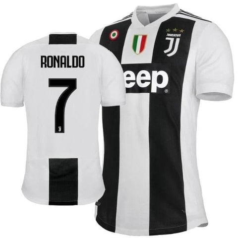 Juventus ICONIC Ronaldo Home Jersey 2018/19 (With Italia logo) [Superior Quality]