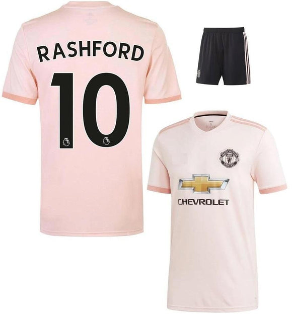 Original Rashford Manchester United Premium Away Jersey & Shorts [Optional] 2018-19