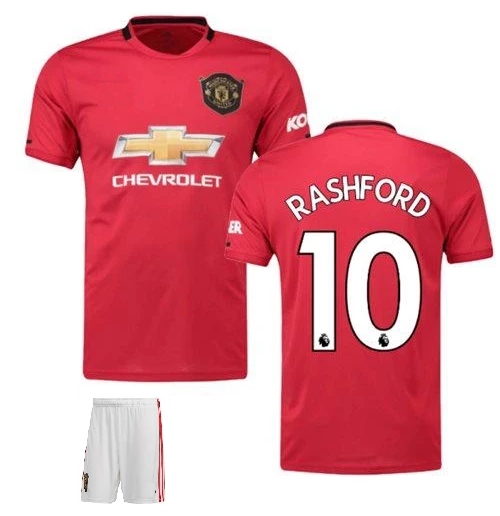 Original Rashford Manchester United Premium Home Jersey & Shorts [Optional] 2019/20